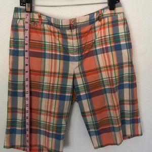 Lauren Ralph Lauren 10 Plaid Cotton Shorts